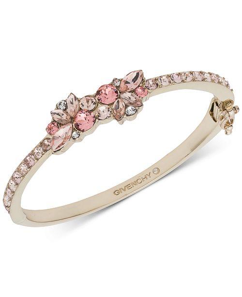 Givenchy Gold-Tone Crystal Bangle Bracelet