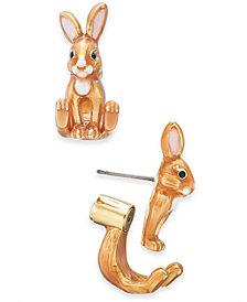 kate spade new york Gold-Tone Bunny Ear Jacket Earrings