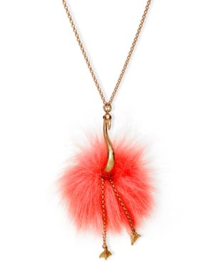 BY THE POOL FLAMINGO PENDANT NECKLACE