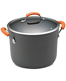 Rachael Ray 10-Qt. Hard-Anodized Non-Stick Stockpot & Lid
