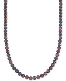 "Esquire Men's Jewelry Tiger's Eye (8mm) 30"" Necklace, Created for Macy's"