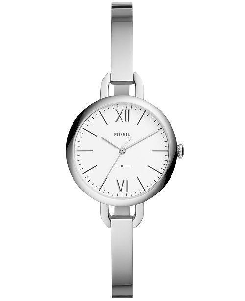Fossil Women's Annette Stainless Steel Bangle Bracelet Watch 30mm