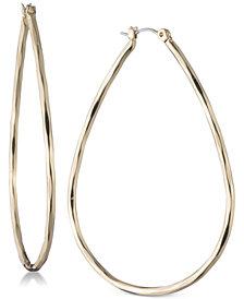Nine West Large Teardrop Hoop Earrings
