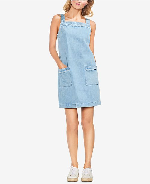 Corsica Denim Vince Shift Camuto Cotton Wash Dress vEEwxqX7r4