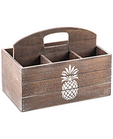 Home Essentials Pineapple-Print Wooden Caddy