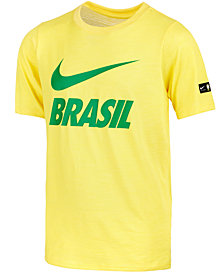 Nike Big Boys Brazil World Cup Graphic-Print T-Shirt