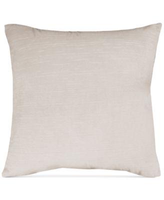"Beige Velvet 20"" Square Pair of Decorative Pillows"