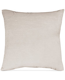 "Hallmart Collectibles Beige Velvet 20"" Square Pair of Decorative Pillows"