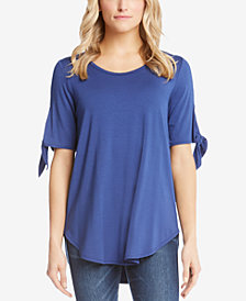 Karen Kane Tie-Sleeve High-Low Top