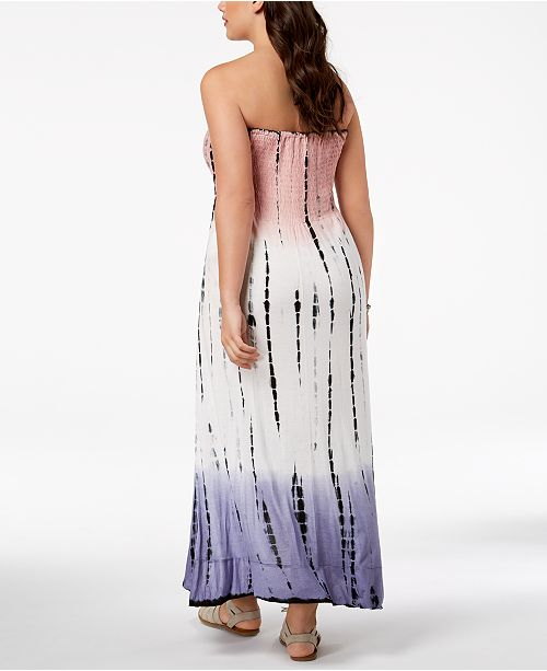 e8d0047ee2 Raviya Plus Size Printed Tube Dress Ruffled Cover-Up   Reviews ...