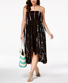 Raviya Plus Size Printed Tube Waterfall Maxi Dress Cover-Up