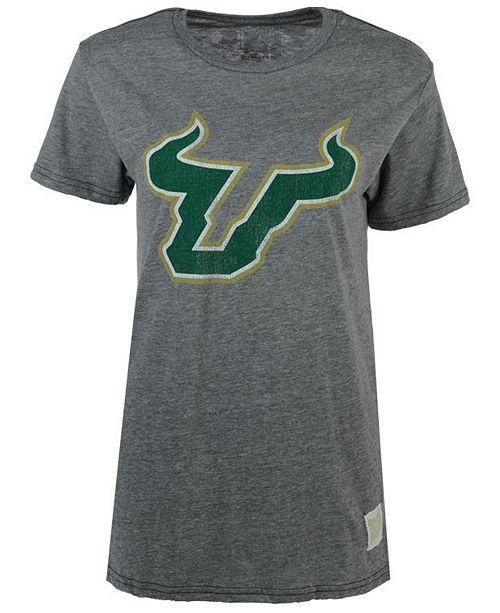 Retro Brand Men's South Florida Bulls Tri-Blend Logo T-Shirt