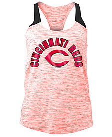 5th & Ocean Women's Cincinnati Reds Space Dye Tank