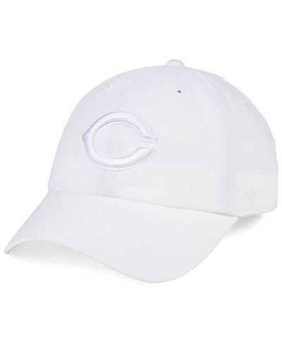 '47 Brand Cincinnati Reds White/White CLEAN UP Cap