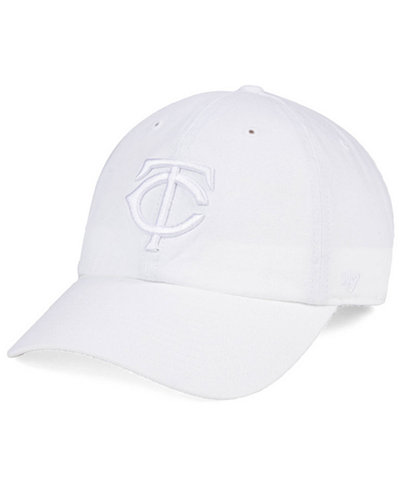 '47 Brand Minnesota Twins White/White CLEAN UP Cap