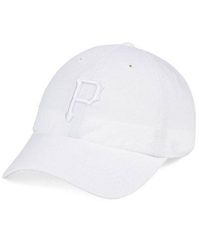 '47 Brand Pittsburgh Pirates White/White CLEAN UP Cap