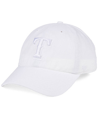 '47 Brand Texas Rangers White/White CLEAN UP Cap