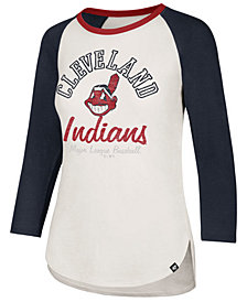 '47 Brand Women's Cleveland Indians Vintage Raglan T-Shirt