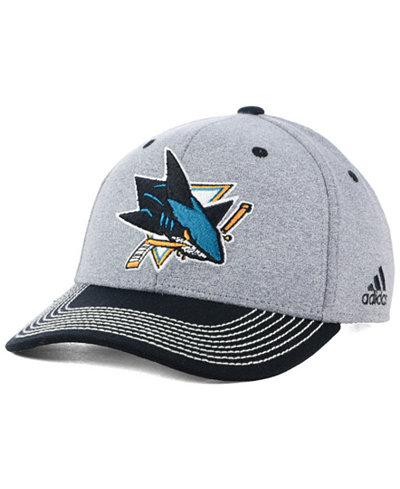 adidas San Jose Sharks Heather Line Change Cap