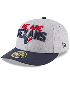 New Era Houston Texans Draft Low Profile 59FIFTY FITTED Cap