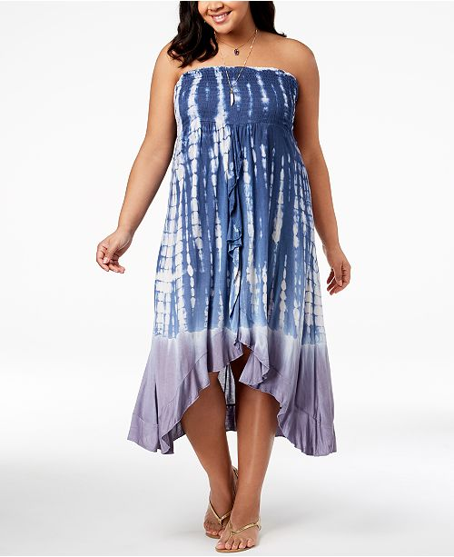 e1449b9efe Raviya Plus Size Printed Ruffled Tube Dress Cover-Up   Reviews ...