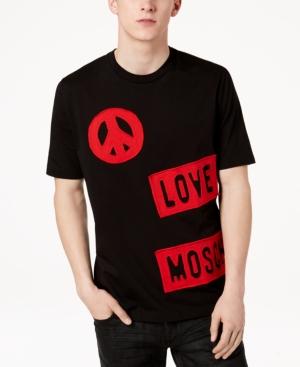 Love Moschino Men's Graphic-Print Cotton T-Shirt