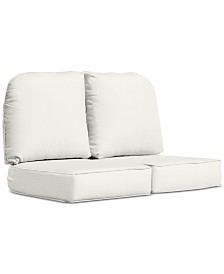 Monterey & Sandy Cove Outdoor Loveseat Replacement Sunbrella® Cushion, Quick Ship