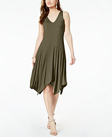 I.N.C. Petite Handkerchief-Hem Dress, Created for Macy's