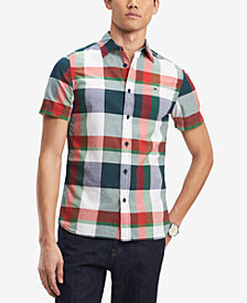 Tommy Hilfiger Men's Classic Fit Striped Plaid Shirt