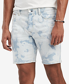 "Tommy Hilfiger Men's Bleached Denim 6"" Shorts, Created for Macy's"