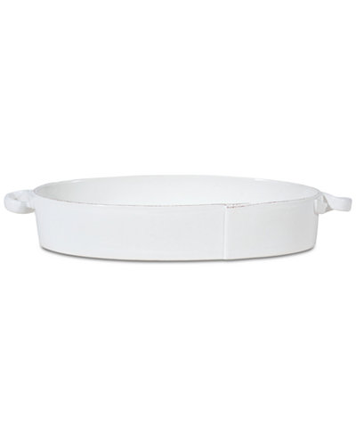 VIETRI Lastra Collection Handled Oval Baker