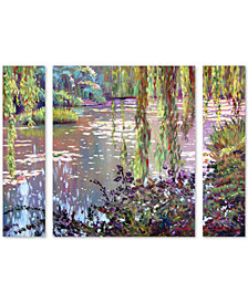 David Lloyd Glover 'Homage to Monet' Large Multi-Panel Wall Art Set