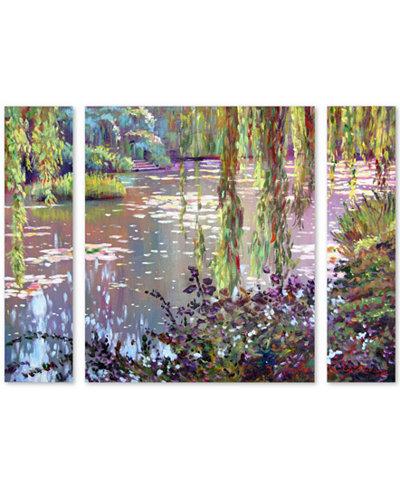 David Lloyd Glover 'Homage to Monet' Large Multi-Panel Wall Art Set