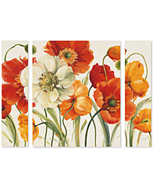 Lisa Audit 'Poppies Melody I' Large Multi-Panel Wall Art Set