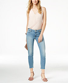 7 For All Mankind Kimmie Frayed Cropped Skinny Jeans