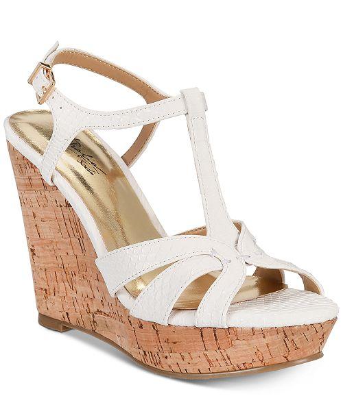 9b3a1d537a21 Thalia Sodi Valerrina Platform Wedge Sandals