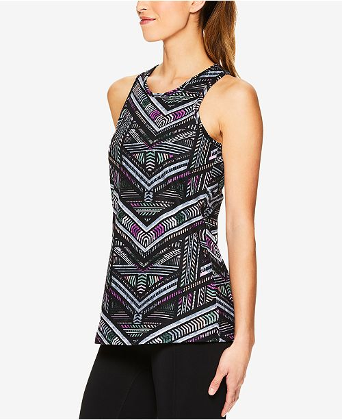 fa18f20feb Gaiam Shilo Printed Compression Racerback Bra Tank Top - Tops ...