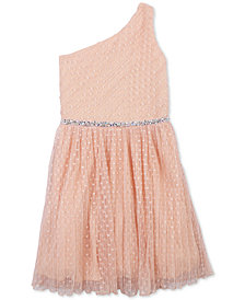 Speechless Big Girls Embellished One-Shoulder Dress