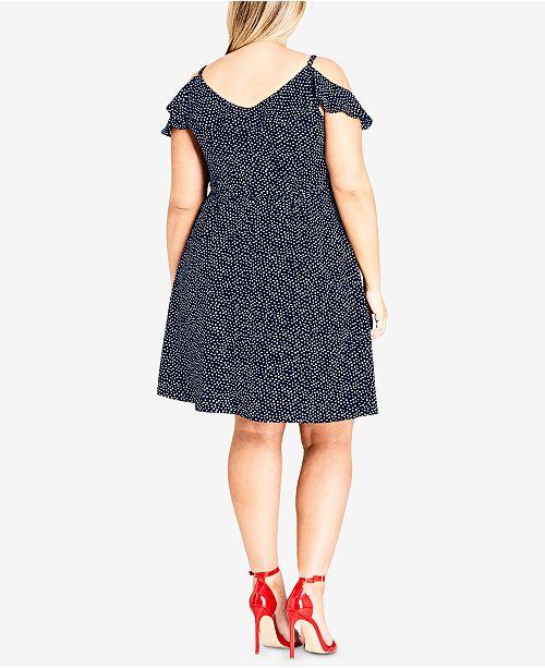 f9a3aa86926 City Chic Trendy Plus Size Cold-Shoulder Wrap Dress - Dresses - Plus ...
