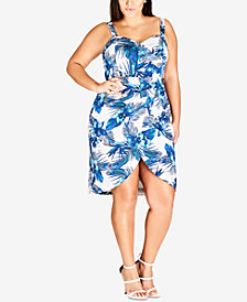 City Chic Trendy Plus Size Aloha Hawaii Dress