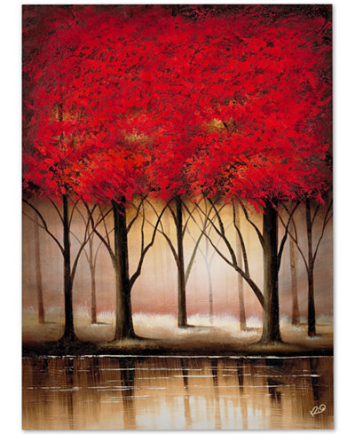 Rio 'Serenade in Red' Large Canvas Wall Art