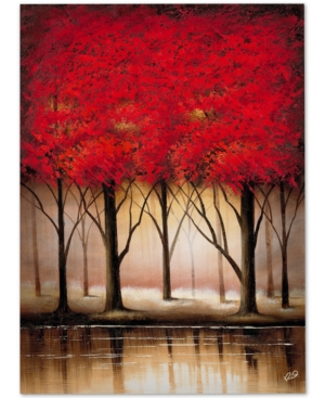 Rio Serenade in Red Large Canvas Wall Art