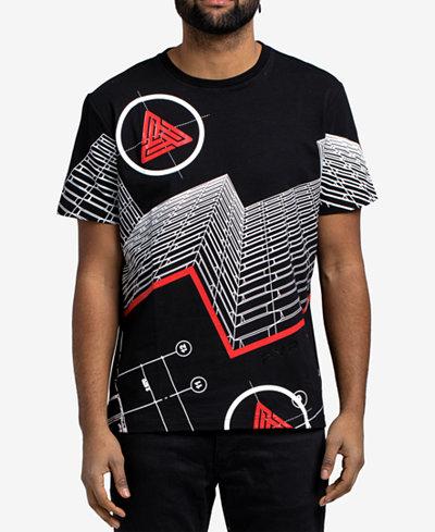 Black Pyramid Men's Futuristic T-Shirt
