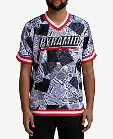 Black Pyramid Men's Newspaper Baseball Jersey