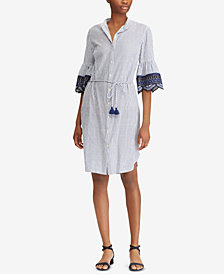 Lauren Ralph Lauren Embroidered-Cuff Dress