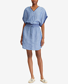 Lauren Ralph Lauren Novelty-Trim Linen Dress