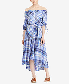 Lauren Ralph Lauren Petite Plaid Cotton Shirtdress