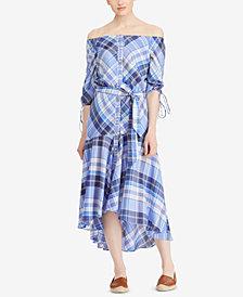 Lauren Ralph Lauren Petite Plaid Cotton Shirtdress