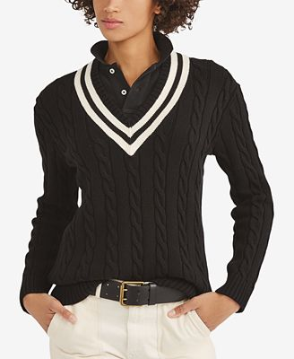 Polo Ralph Lauren Cotton Cricket Sweater Sweaters Women Macys