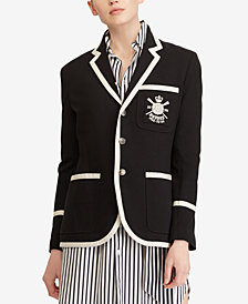Polo Ralph Lauren Embroidered Knit Blazer